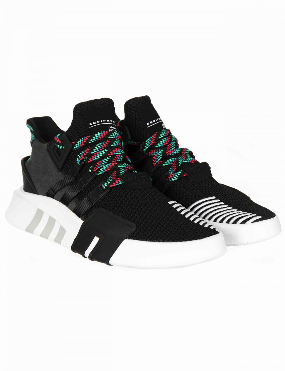 c99f1ba957dd Adidas Originals EQT Bask ADV Shoes - Core Black Sub Green ...