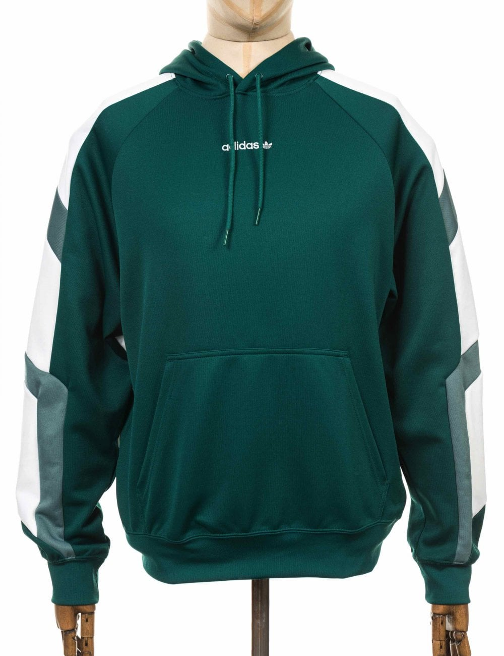 f18d9b7b5e58 Adidas Originals EQT Block Hooded Sweatshirt - Noble Green ...