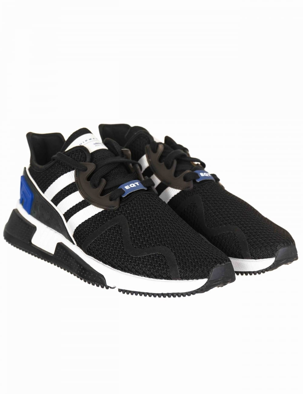Adidas Originals EQT Cushion ADV Trainers - Black (Blue Pack ... eb1ef61ad