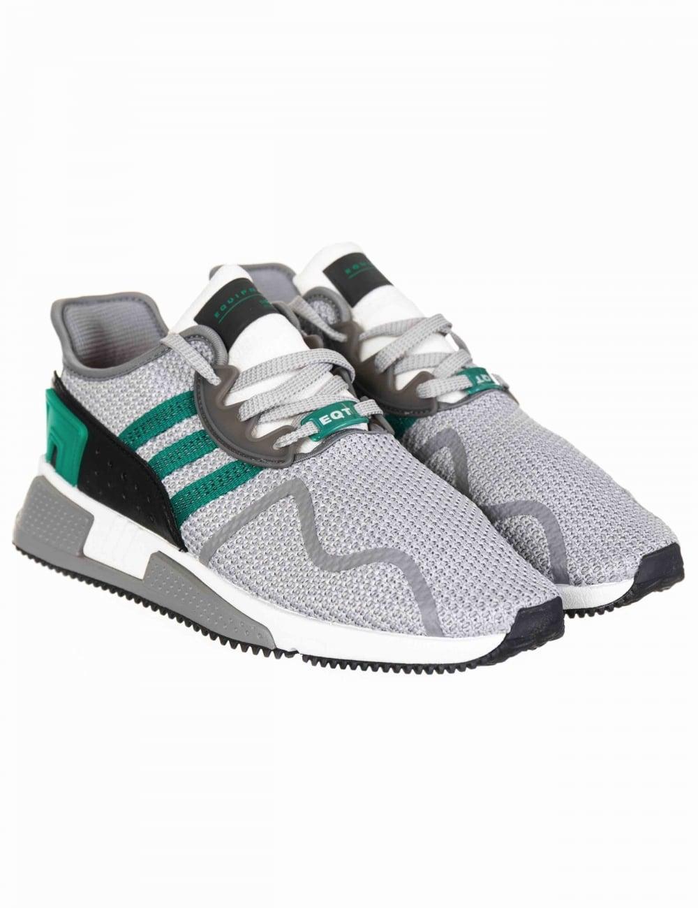 buy online 55083 4a8dd EQT Cushion ADV Trainers - Grey Two/Sub Green