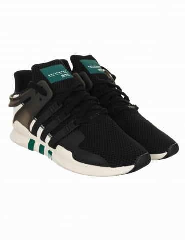 EQT Support Advance Shoes - Core Black/Sub Green (BA8321)