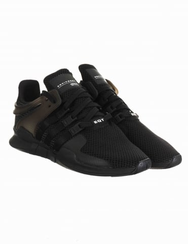 EQT Support Advance Shoes - Triple Black (BA8324)