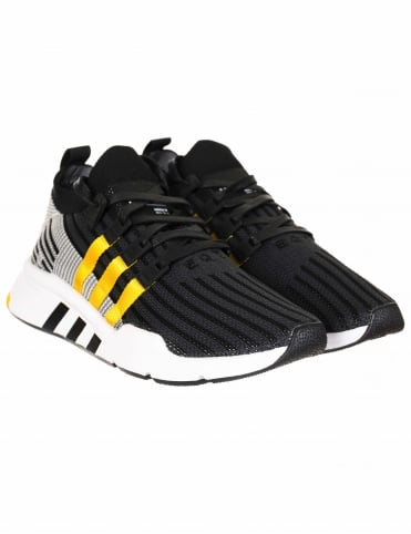 EQT Support Mid ADV Primeknit Shoes - Core Black/Eqt Yellow