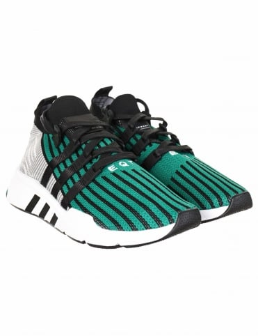 EQT Support Mid ADV Primeknit Shoes - Core Black/Sub Green