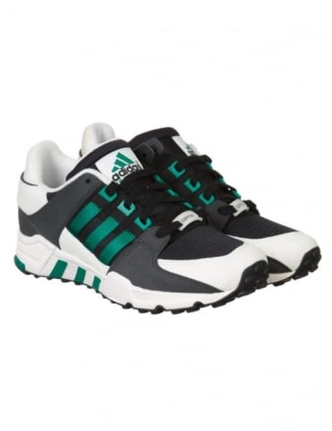 Adidas Originals Equipment Running Support Shoes - Black/Sub Green