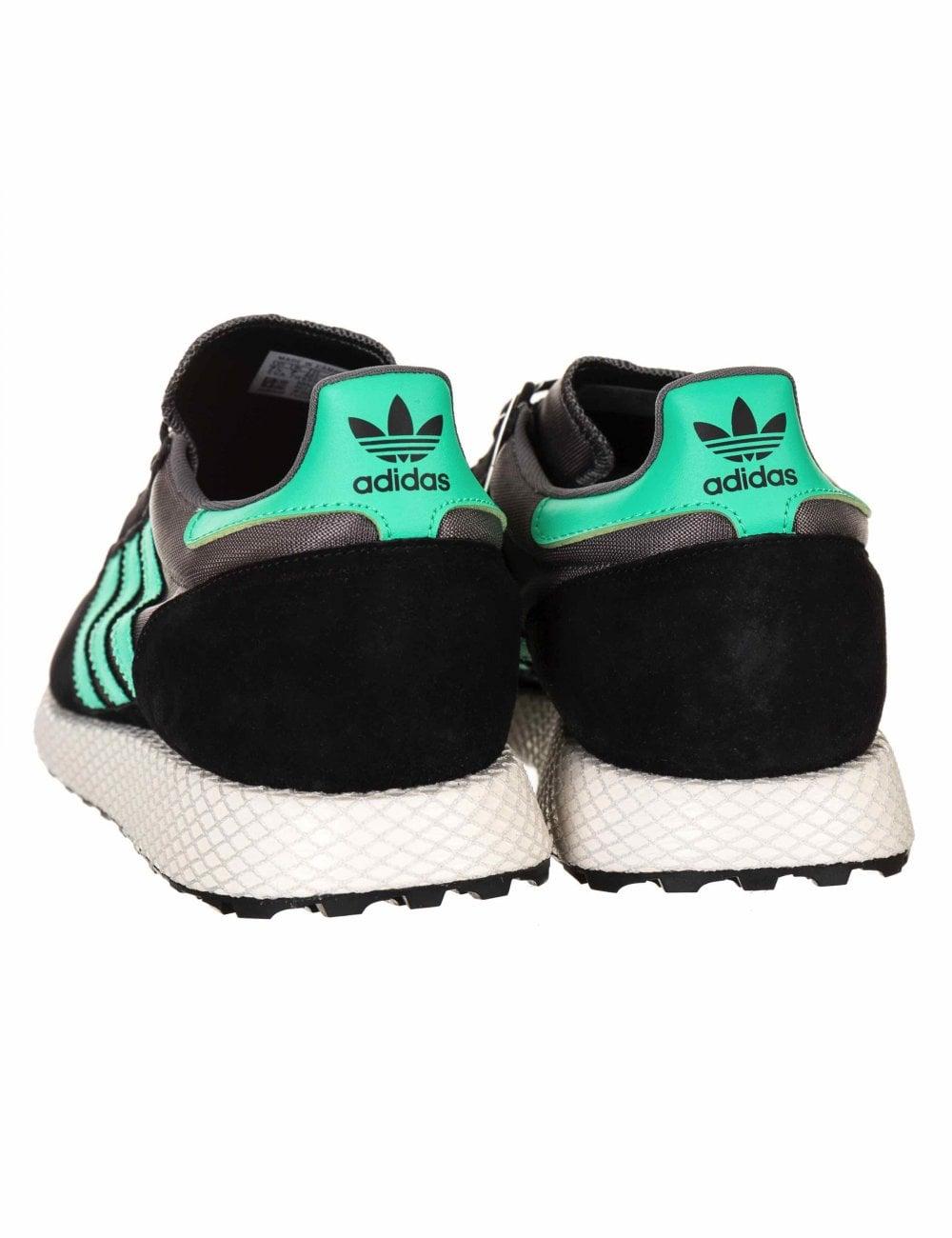 0b82ce3f279 Adidas Originals Forest Grove Trainers - Black Hi-Res Green ...