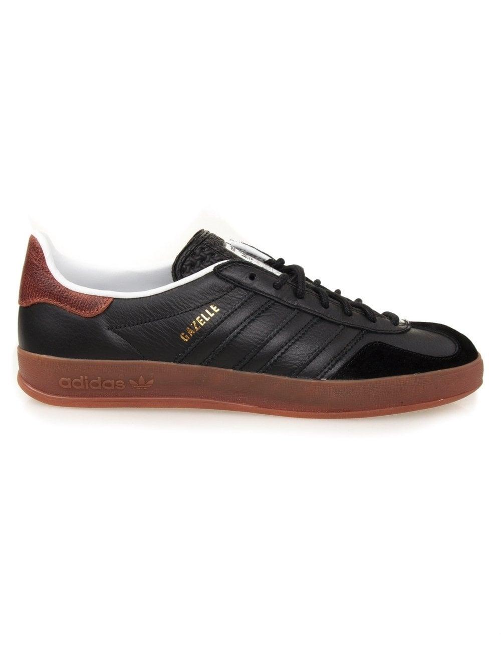 Adidas Originals Gazelle Indoor - Black - Footwear from Fat Buddha ... 57770efa4