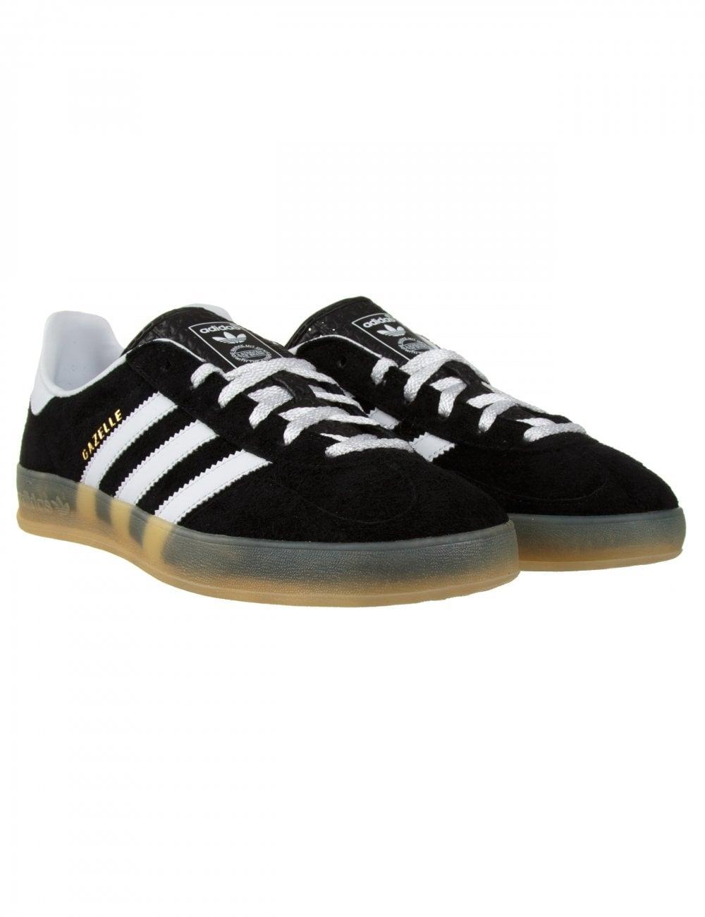 Adidas Originals Gazelle Indoor Shoes - Black - Footwear from Fat ... 7da1fed9f