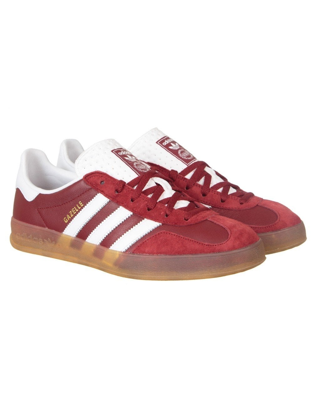 Adidas Originals Gazelle Indoor Shoes - Rust Red - Footwear from Fat ... d2fa1cb5c3d5