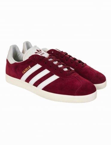 Adidas Originals Gazelle OG Shoes - Collegiate Burgundy/White