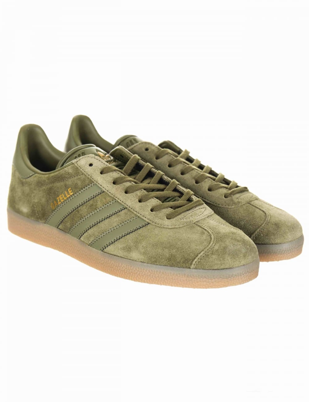 5ad6317b82b8 Adidas Originals Gazelle OG Shoes - Olive Cargo Gum - Trainers from ...