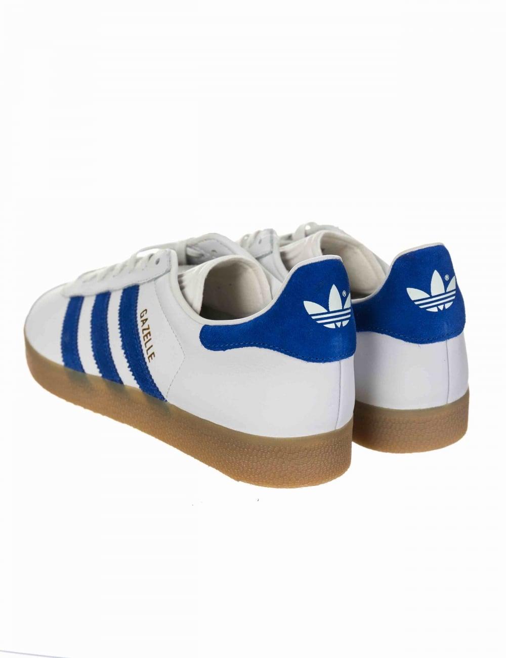 Gazelle OG Shoes - Vintage White/Bold Blue