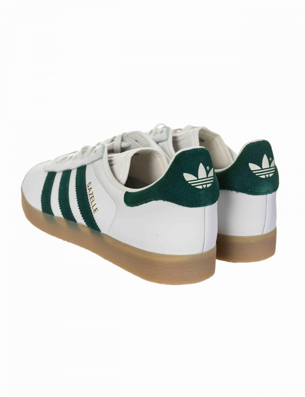 Gazelle OG Shoes - Vintage White/Collegiate Green