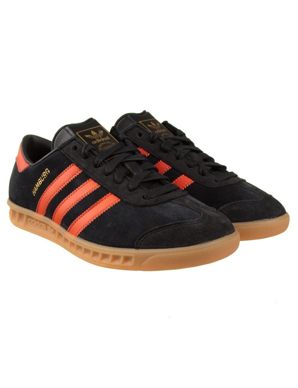 adidas black and orange shoes