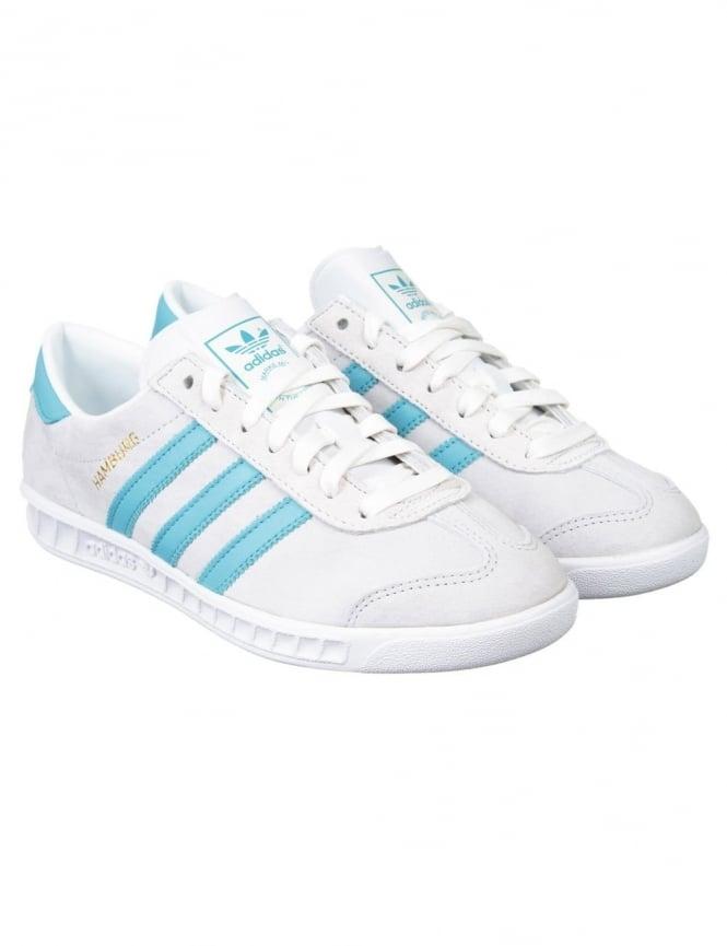 Adidas Originals Hamburg Shoes - Crystal White/Blanch Sky