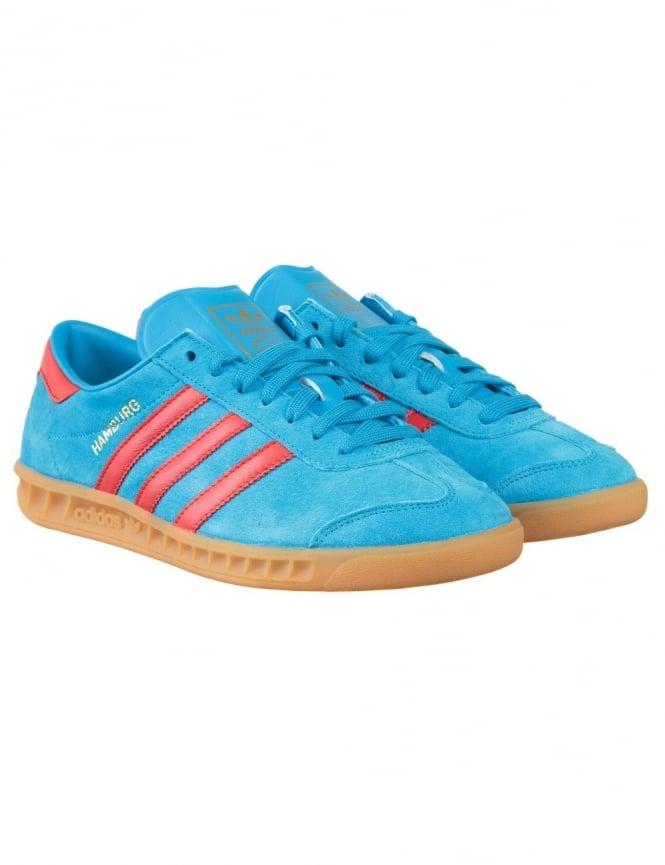 Adidas Originals Hamburg Shoes - Solar Blue