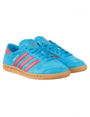 Adidas Originals Hamburg Shoes - Solar Blue