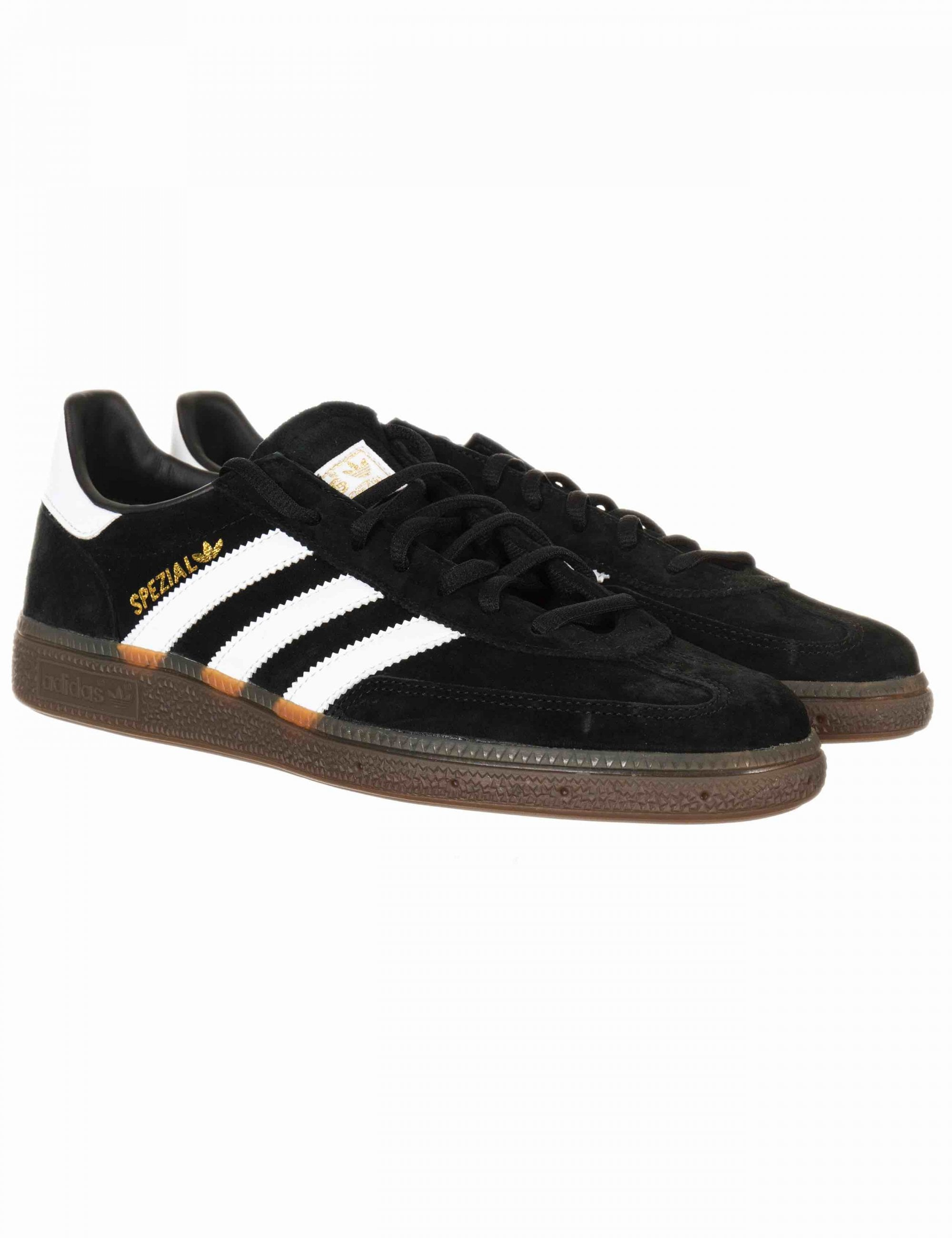 Escabullirse Física Brutal  Adidas Originals Handball Spezial Trainers - Core Black/Gum - Footwear from  Fat Buddha Store UK