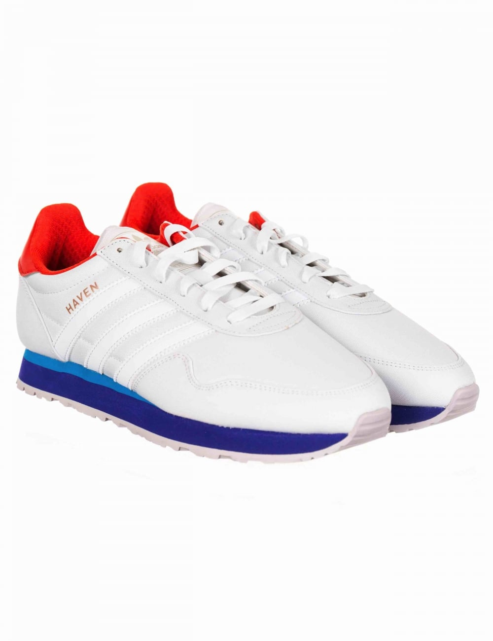 low priced ce86a 22a1e Adidas Originals Haven Shoes - Footwear White Burnt Orange