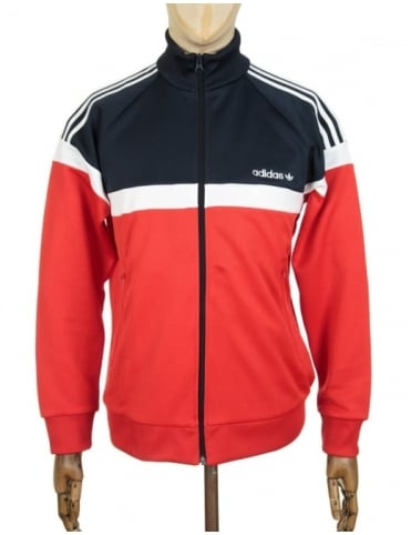 Adidas Originals Itasca Track Top - Vivid Red/Legend Ink