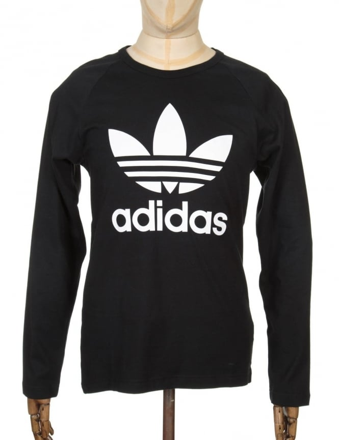 Adidas Originals L/S Trefoil T-Shirt - Black