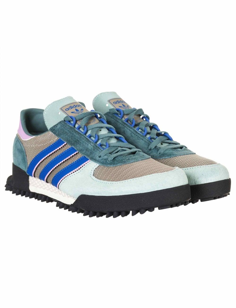 fb28d2d13ef3 Adidas Originals Marathon TR Trainers - Ash Green Chalk White ...