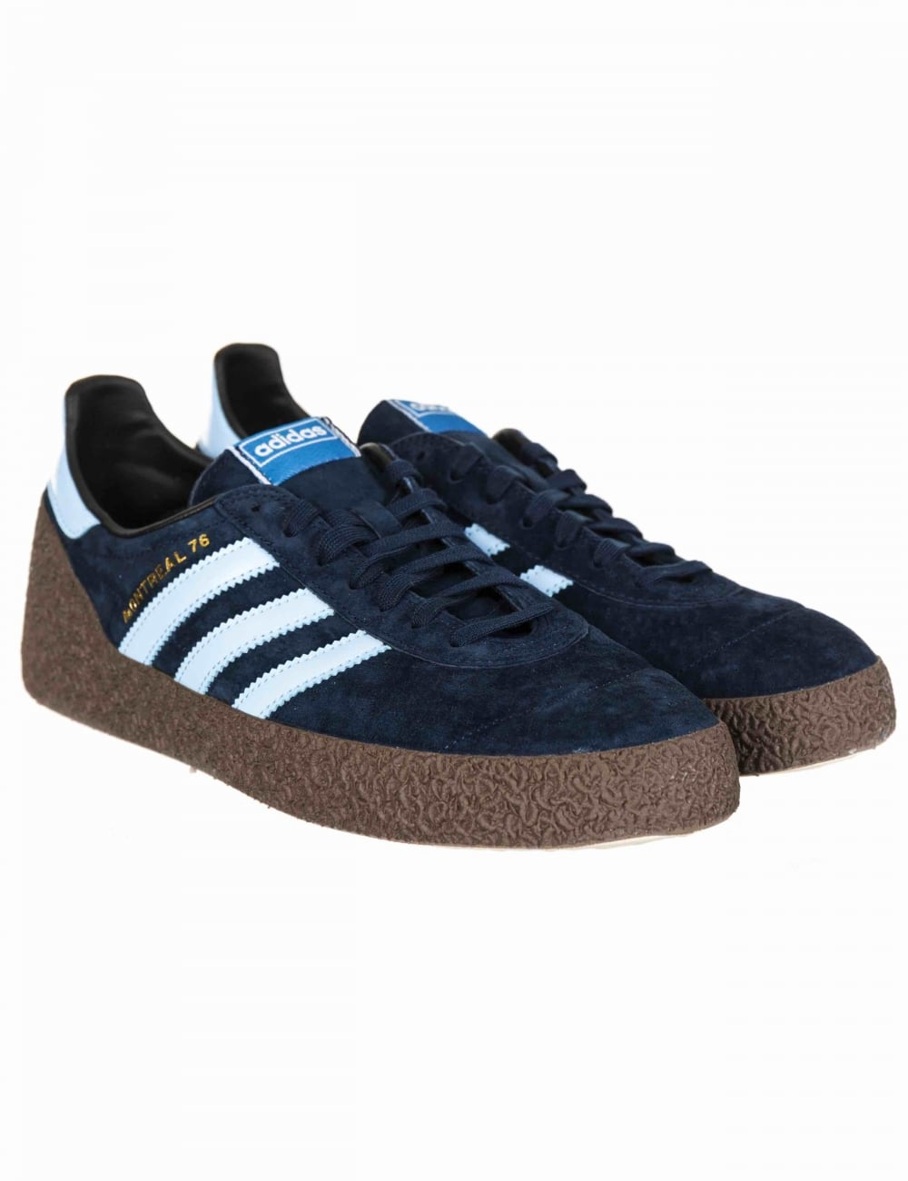 Adidas Originals Montreal  76 Trainers - Collegaite Navy Clear Sky ... a2a038b99750
