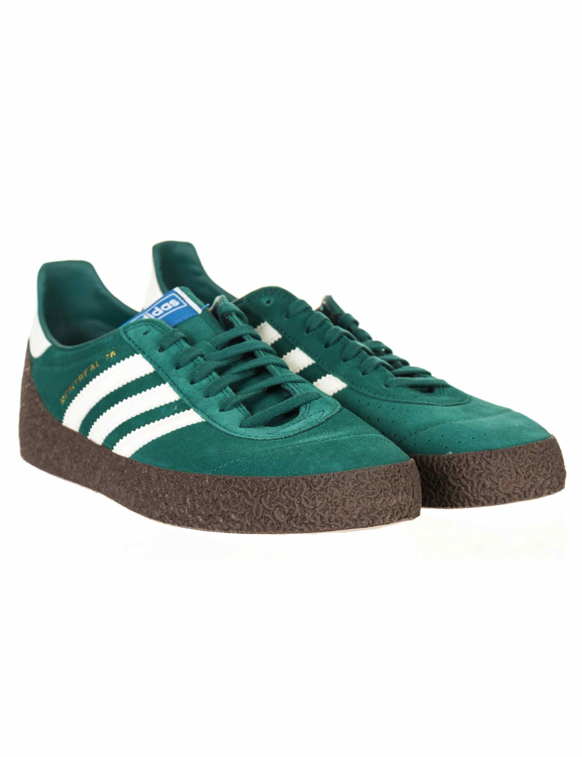 sesión Parpadeo caridad  Adidas Originals Montreal '76 Trainers - Noble Green/Off White - Footwear  from Fat Buddha Store UK
