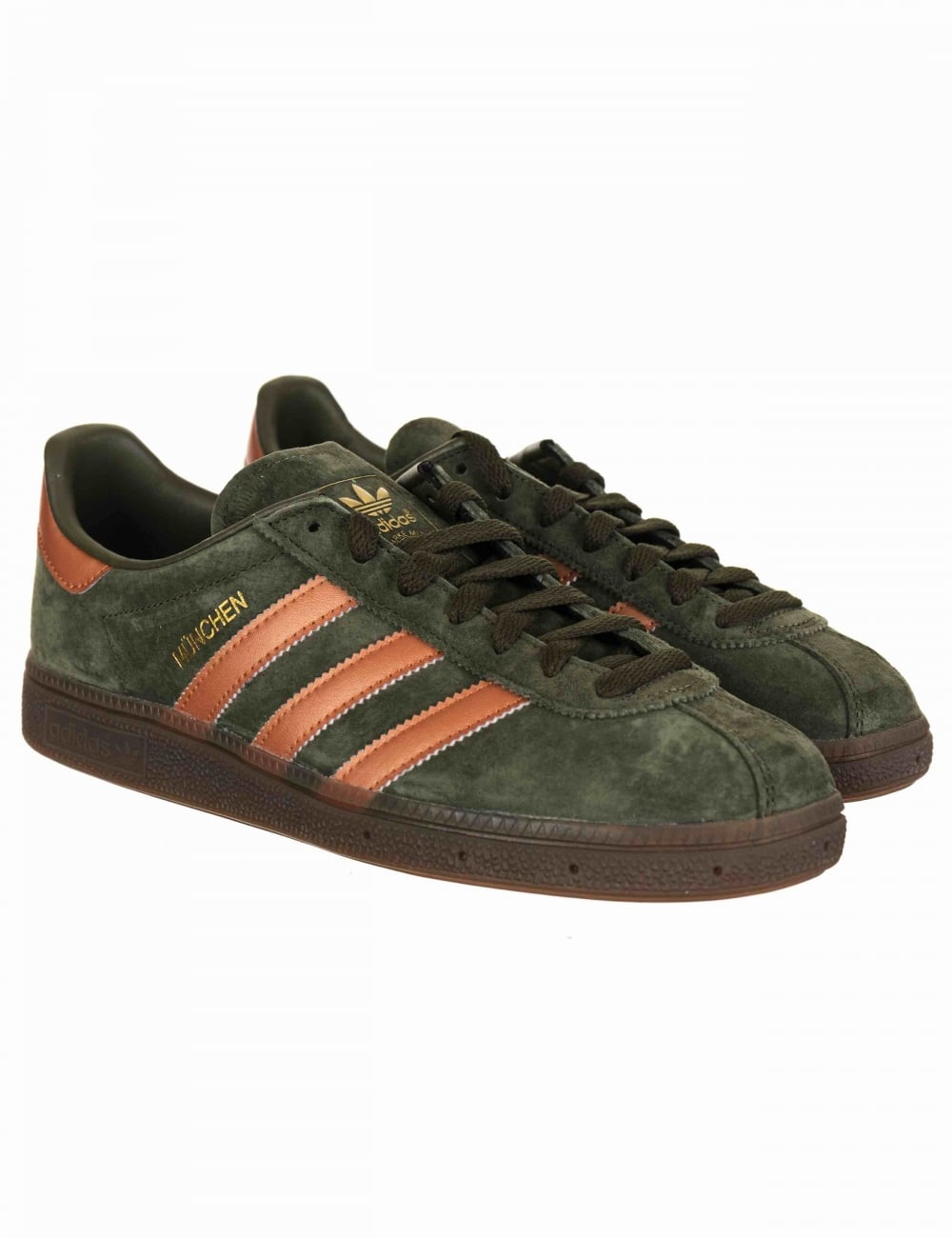 8a46622a660f Adidas Originals Munchen Shoes - Night Cargo Bronze - Footwear from ...