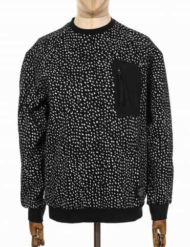 NMD Pocket Crewneck Sweeatshirt - Black/White