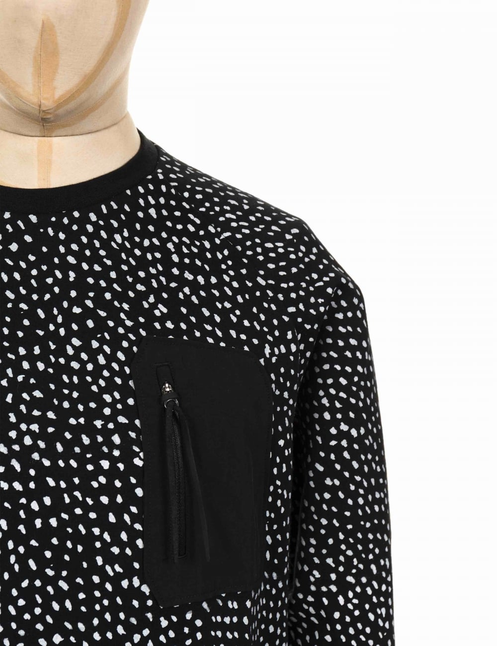 84aa2dc39c0d0 Adidas Originals NMD Pocket Crewneck Sweeatshirt - Black White ...