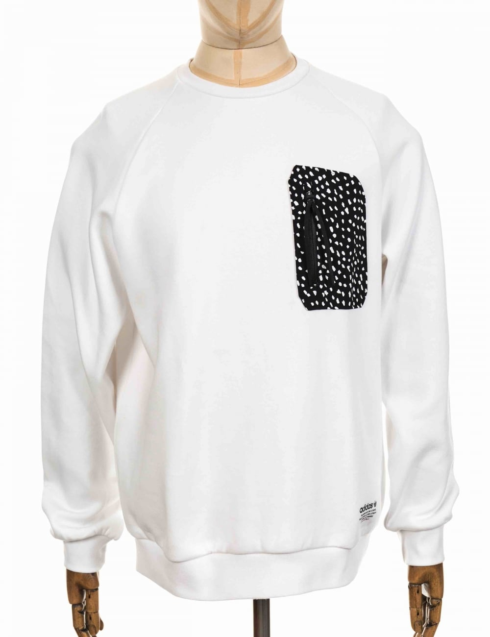 51ce2bc02 Adidas Originals NMD Pocket Crewneck Sweeatshirt - White - Clothing ...