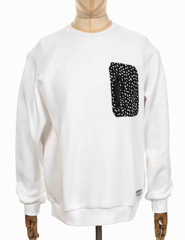 NMD Pocket Crewneck Sweeatshirt - White