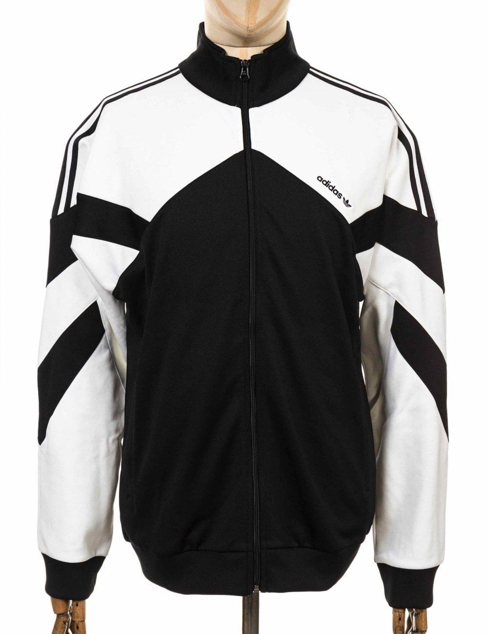 ac8465cea0 Adidas Originals Palmeston Tracktop - Black White - Jackets from Fat ...
