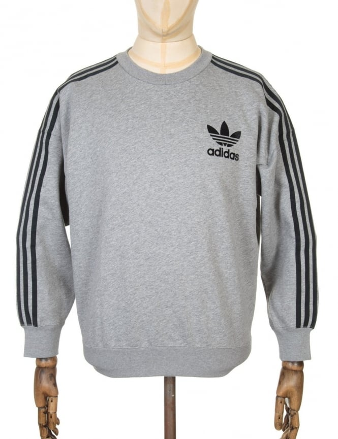 Adidas Originals Retro Fashion Sweatshirt - Heather Grey