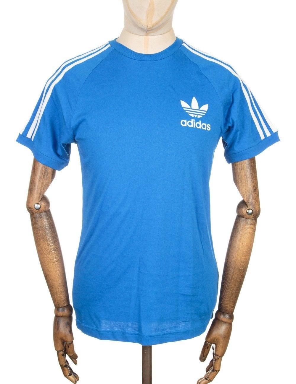 Retro trefoil logo t shirt bluebird clothing from fat for Retro t shirts uk