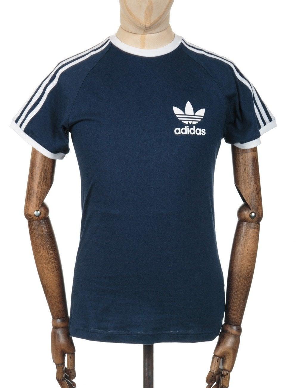Retro Trefoil Logo T Shirt Collegiate Navy Clothing