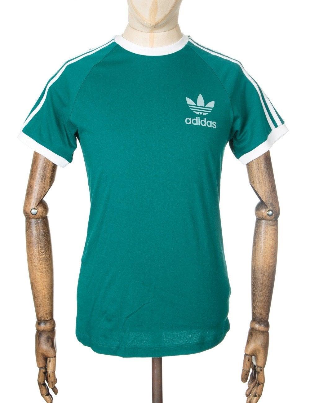 Retro trefoil logo t shirt emerald clothing from fat for Retro t shirts uk