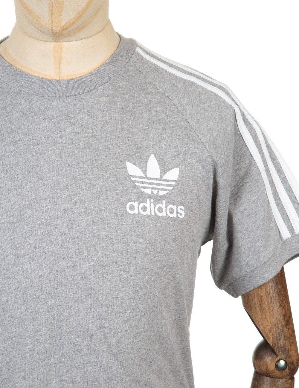 Retro Trefoil Logo T shirt Medium Grey Heather