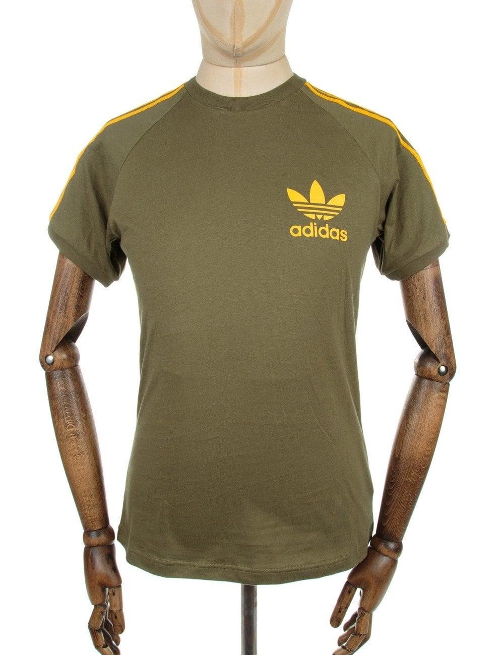 Olive Cargo Trefoil T Retro Shirt Logo CrxoeWBd