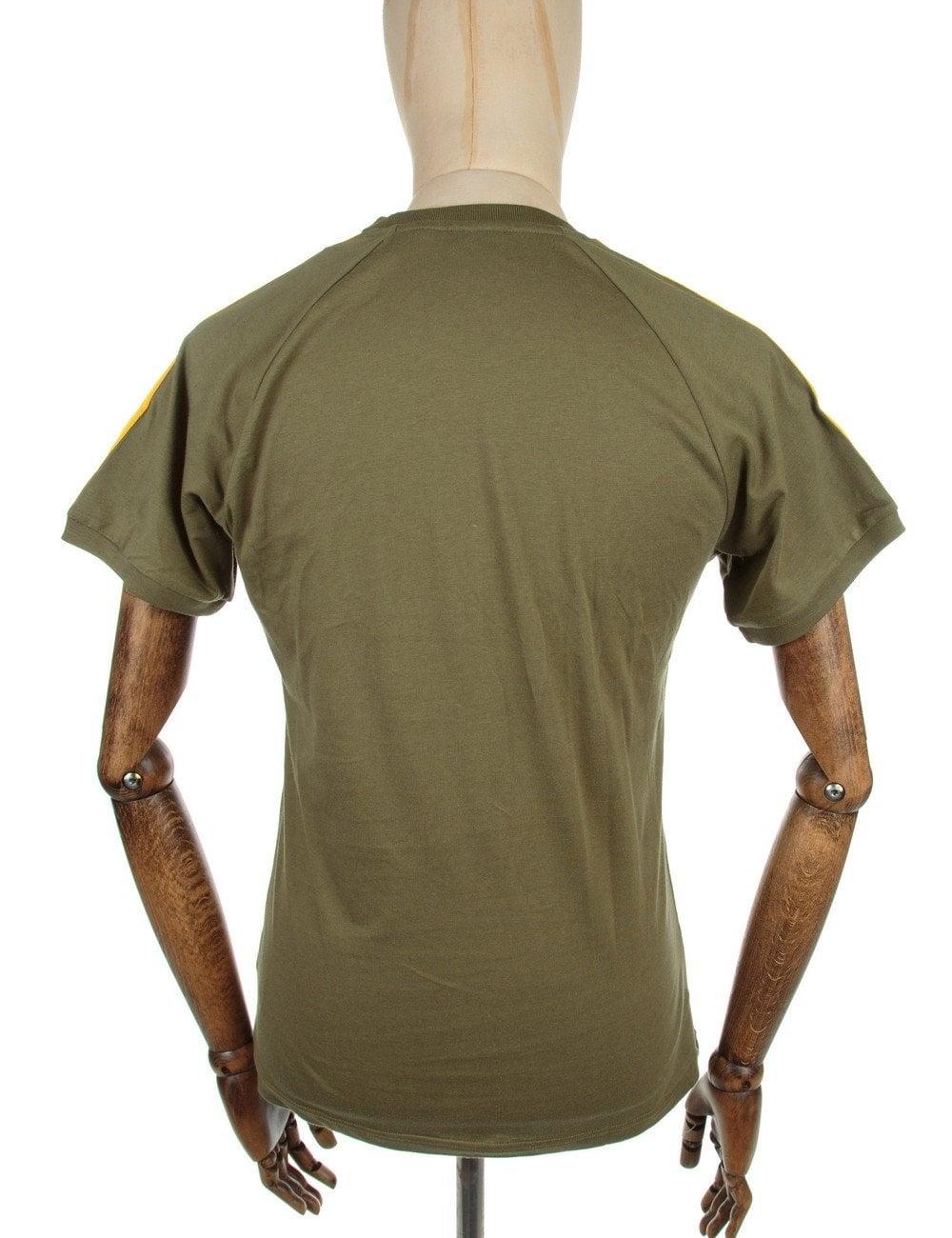 e7e38fc23 Adidas Originals Retro Trefoil Logo T-shirt - Olive Cargo - Clothing ...