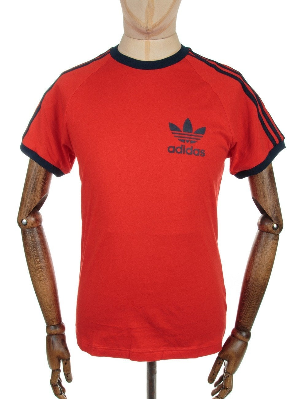 Retro Trefoil Logo T-shirt - Red