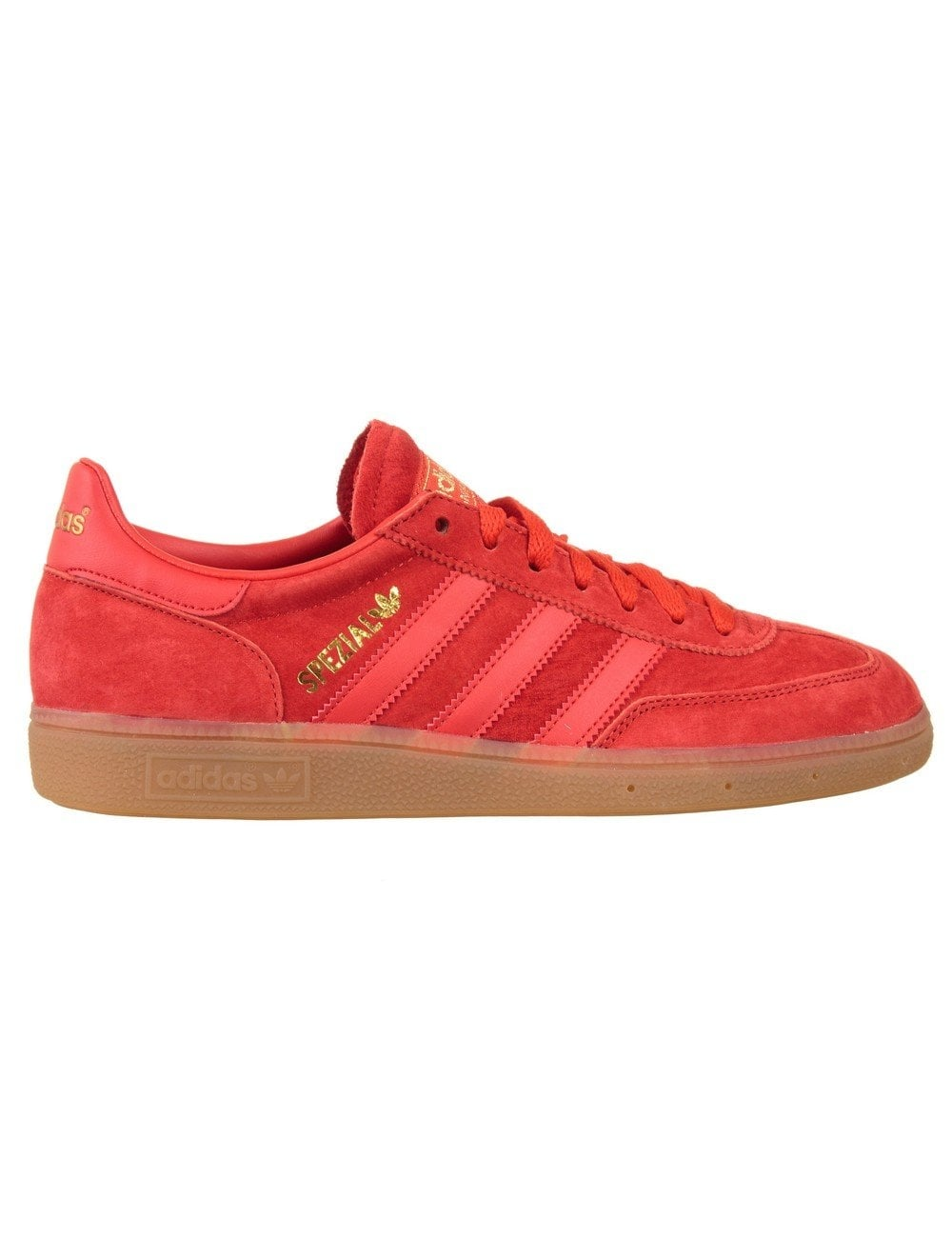 Acompañar Extracto intencional  Adidas Originals Spezial Shoes - Red/Red/Gum - Footwear from Fat ...