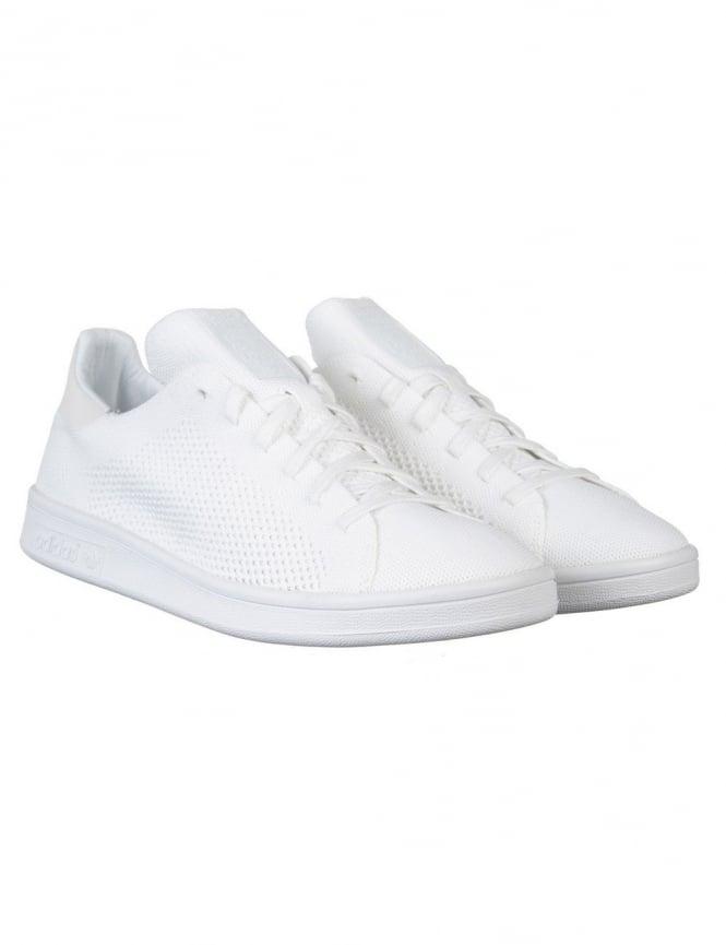 Adidas Originals Stan Smith Primeknit Shoes - White/White