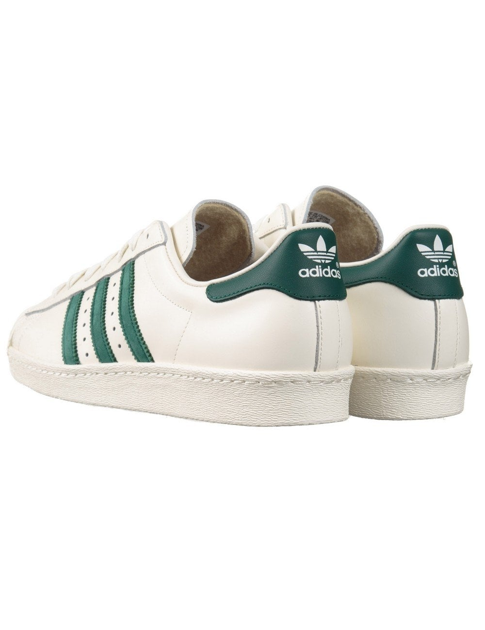 new style 9c29b 8d695 adidas superstar 80s white green