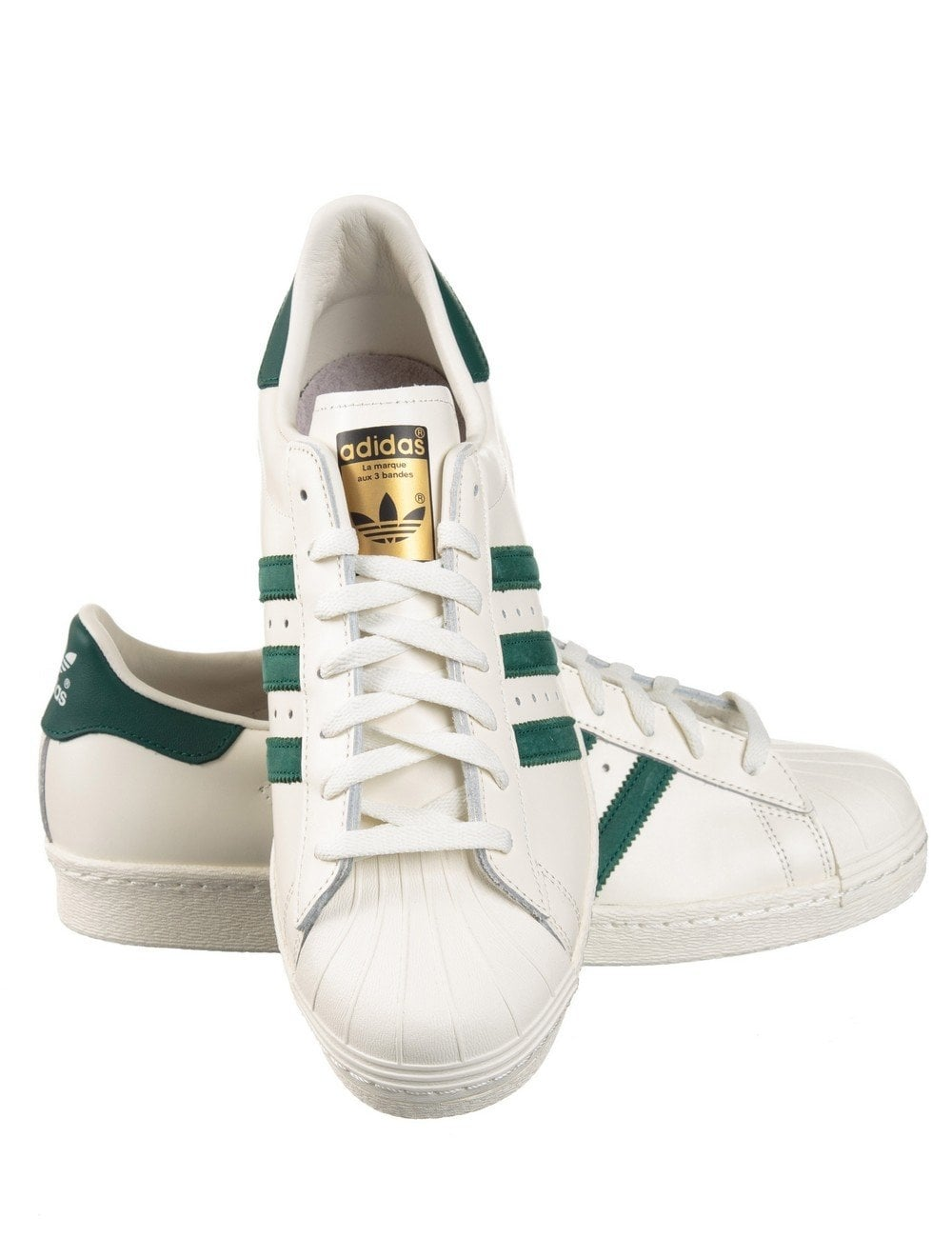 reputable site 40d1b 56a73 Superstar 80s Delux Shoes - Vintage White/Green