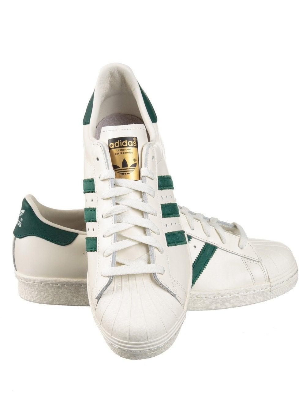 Adidas Superstar Green Stripe