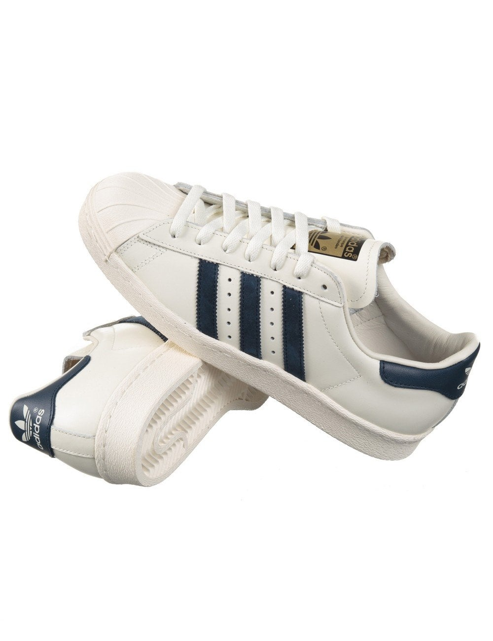 promo code 1899d 2b3e5 ... closeout superstar 80s delux shoes vintage white navy ce34d ec040