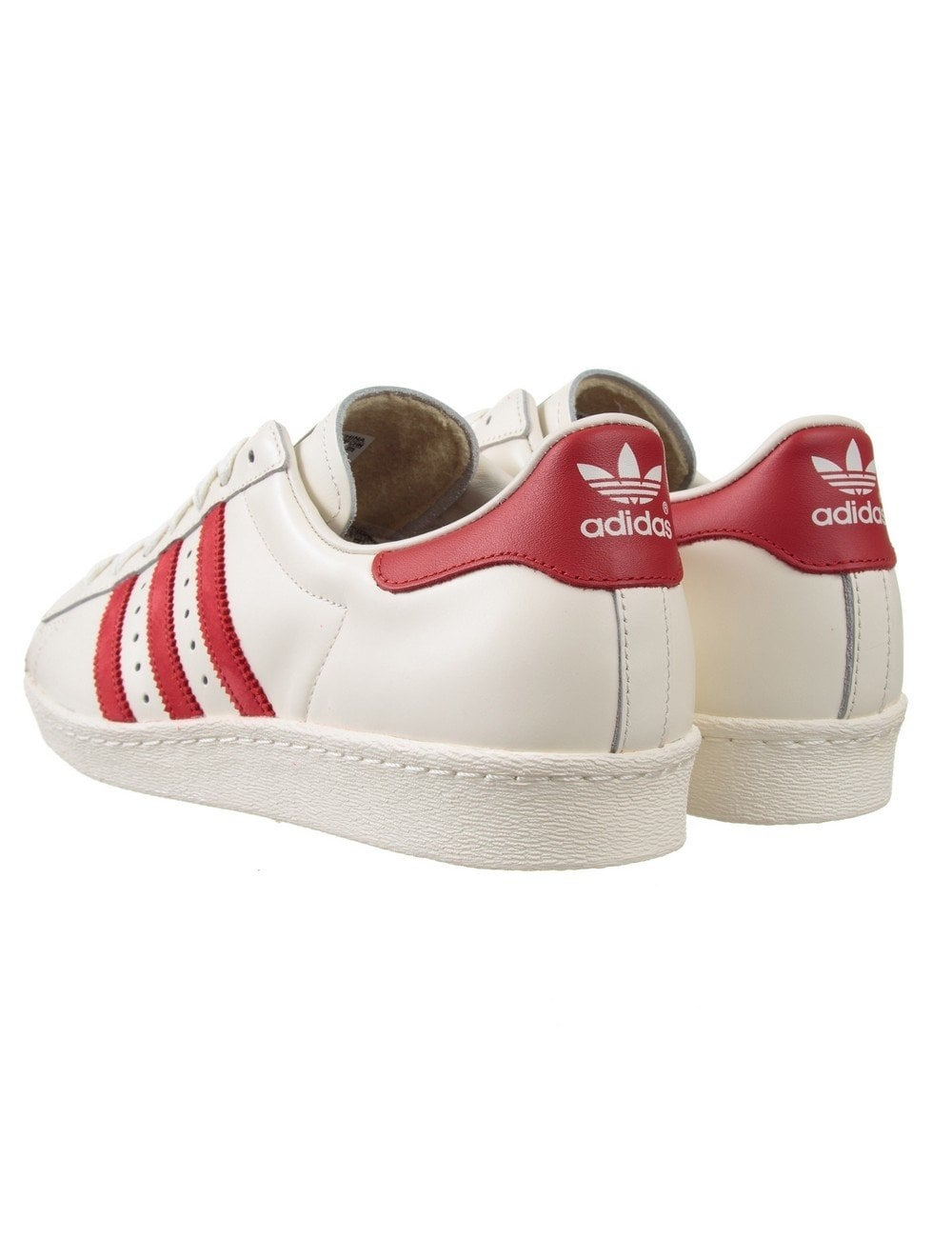 Adidas Originals Superstar 80s Delux Shoes Vintage White Scarlet