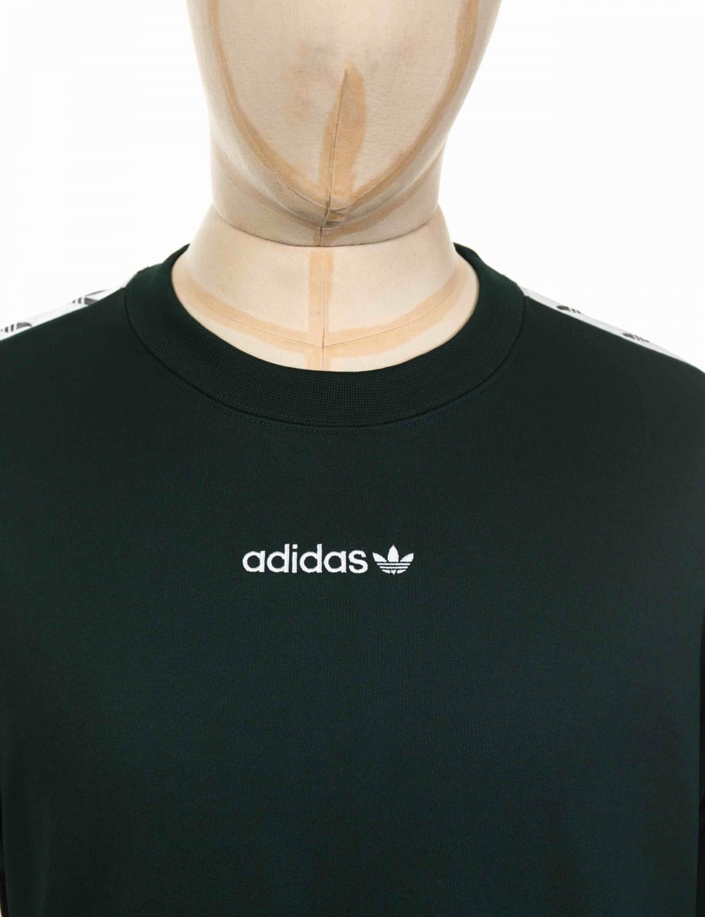 clase cajón músico  Adidas Originals TNT Tape Crew Sweatshirt - Night Green/White - Clothing  from Fat Buddha Store UK